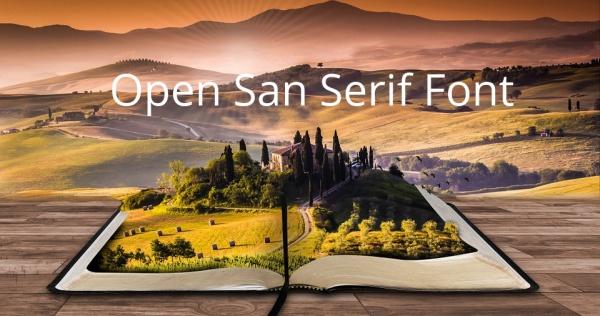 Open San Serif Font