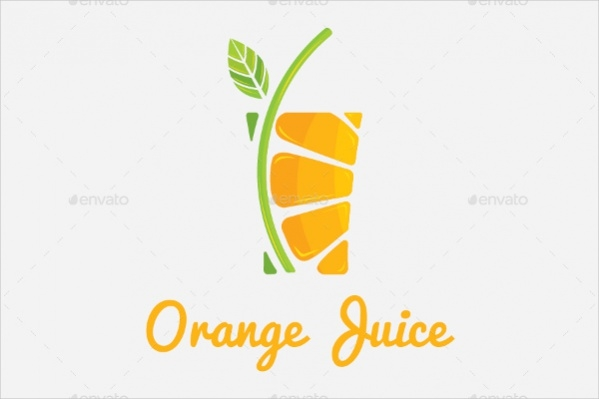 Orange Drink Logo Design
