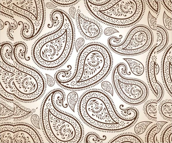 Ornate Vector Paisley Pattern