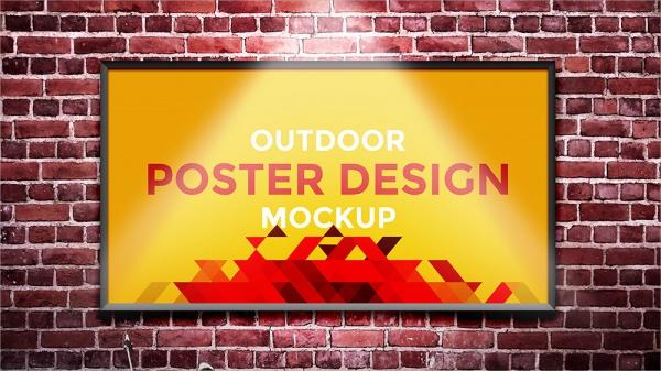 Outdoor Poster Mockup Design