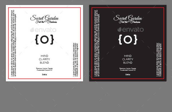 PSD Bottle Label Design