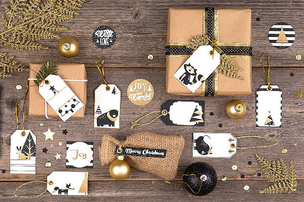 PSD Gift Tags