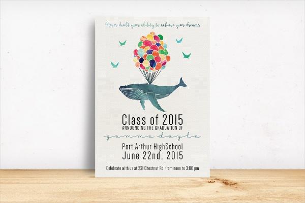 PSD Graduation Invitation Template