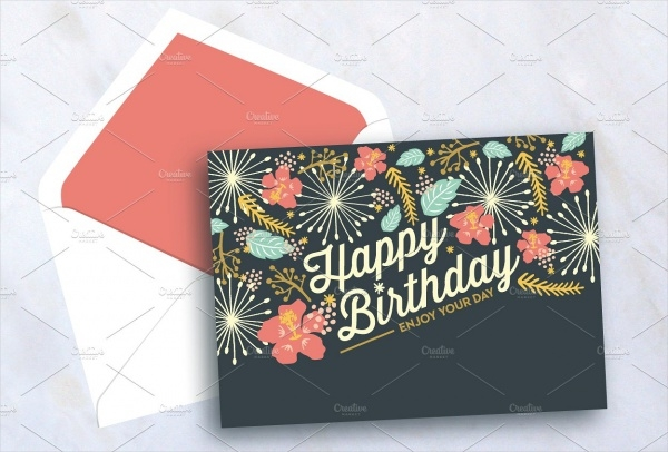PSD Happy Birthday Card