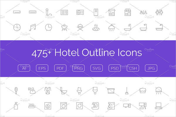 PSD Hotel Icons