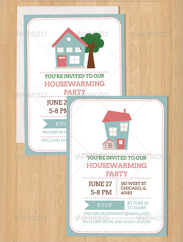20 Housewarming Invitations PSD Vector EPS AI Illustrator Download