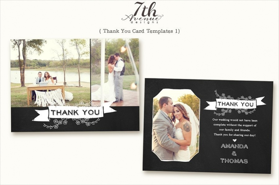 PSD Thank You Card
