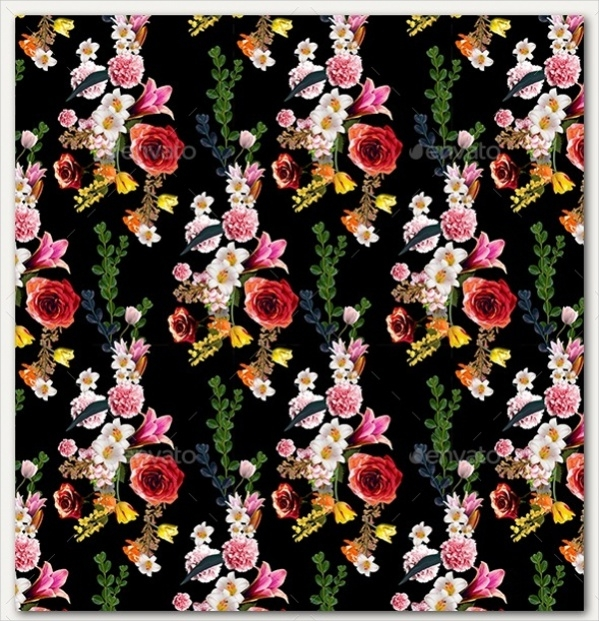 PSD Vintage Flower Background