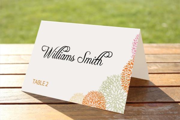 PSD Wedding Place Card