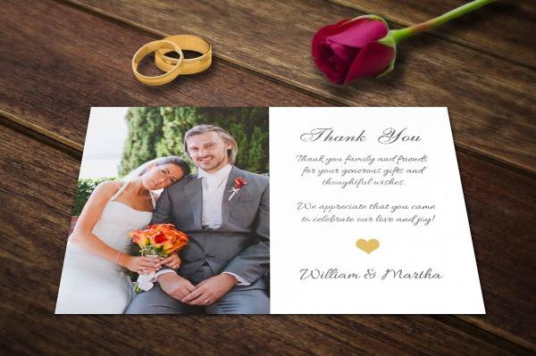 PSD Wedding Thank You Card