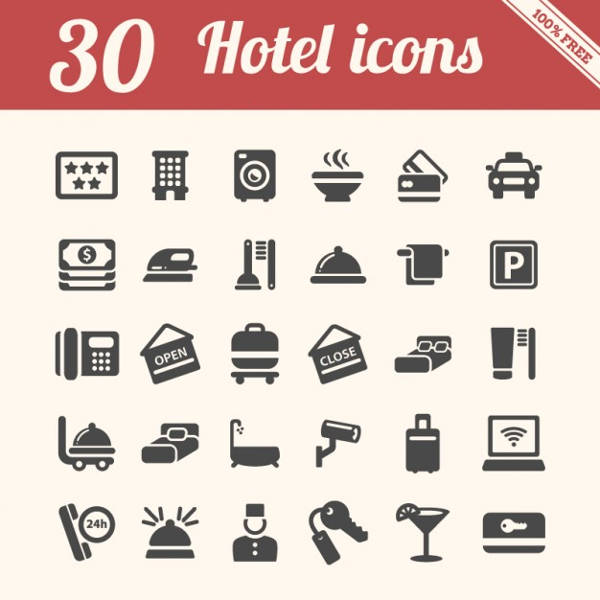 Pack of Hotel Icons