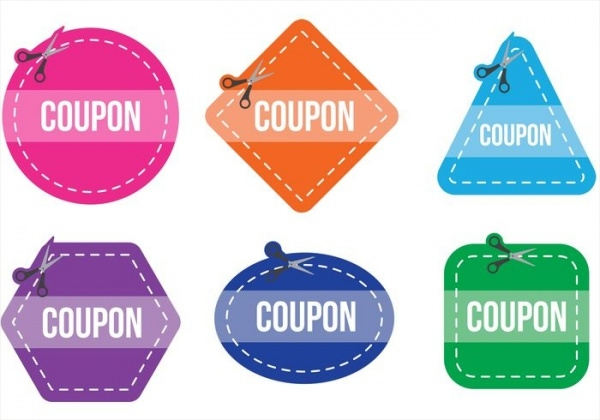 Pack of Printable Scissiors Coupon Vector