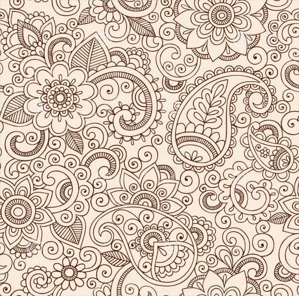 Paisley Flower Pattern Design