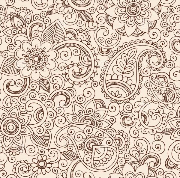 Paisley Flower Pattern Design