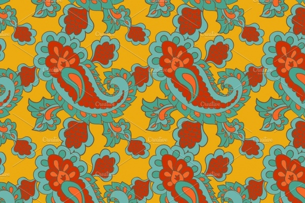 Paisley background pattern Design