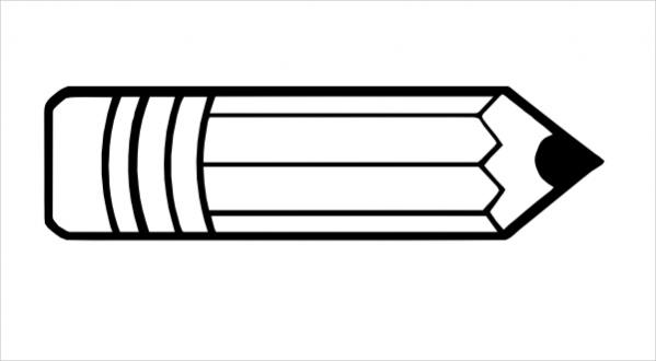 Pencil Outline Clipart