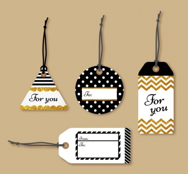 personalized glitter gift tag
