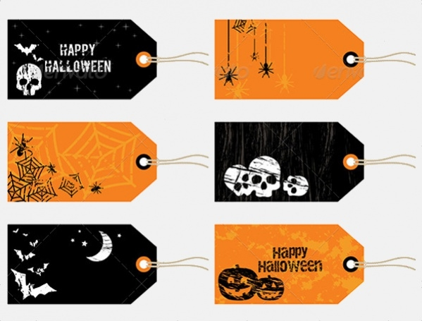 personalized halloween gift tag