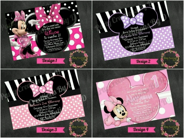 Personalized Minnie Mouse Invitation