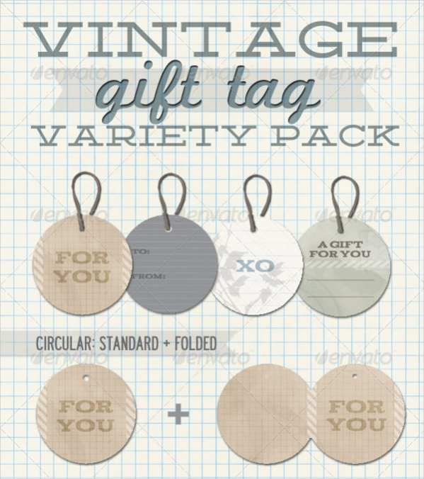 personalized vintage gift tag