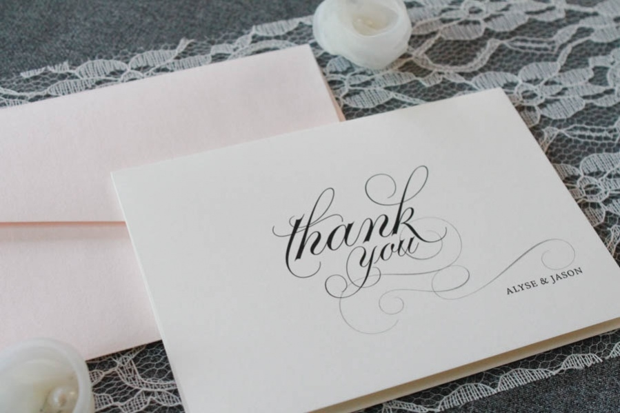 Personalized Wedding Thank You Card