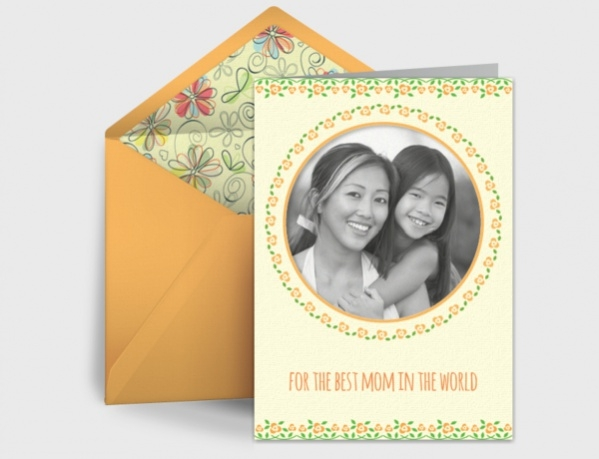 Photo Frame Mothers Day Card