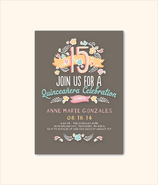 Photo Quinceanera Invitation