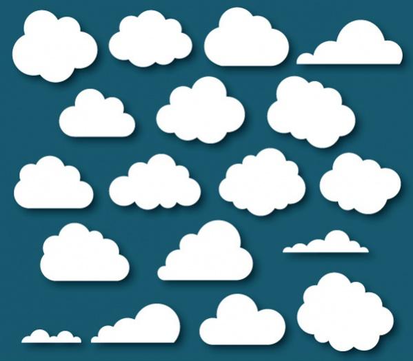 Photoshop Cloud Shapes