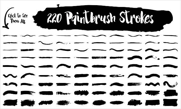 Photoshop Paint Stroke Brushes