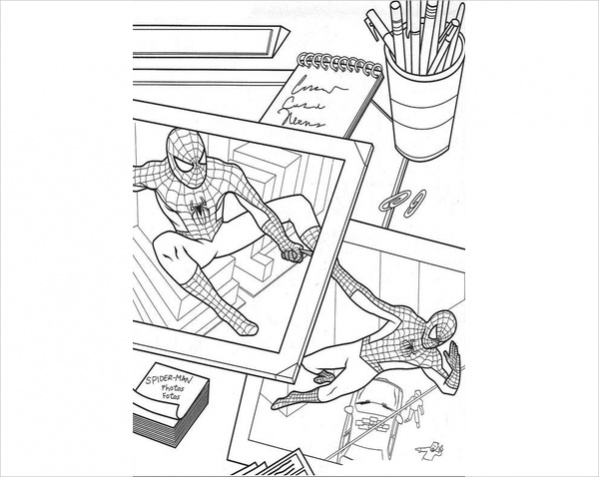 pictures of spider man coloring page