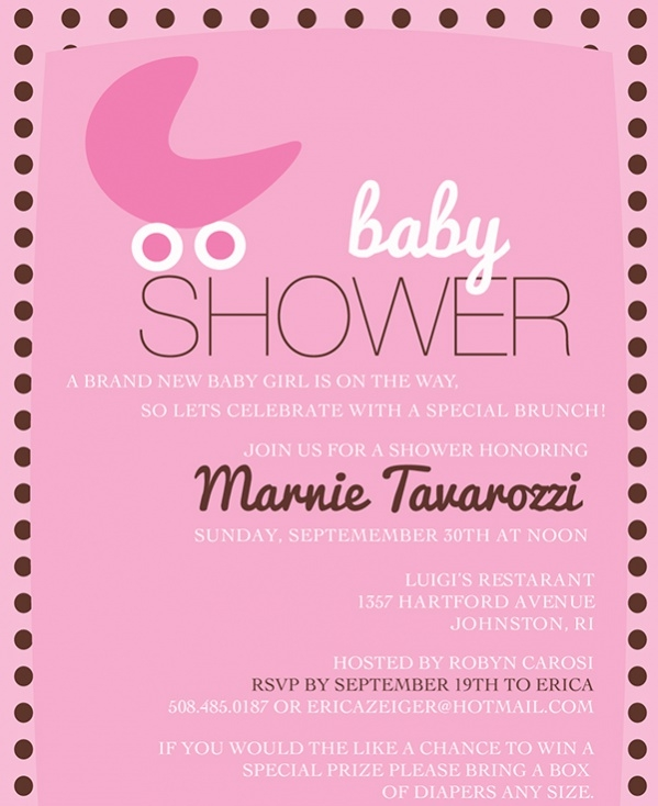 Pink Baby Shower Invitations Printable