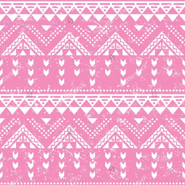 Pink Tribal Pattern Old Style