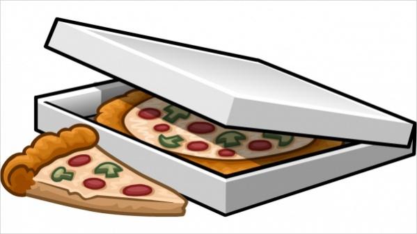 Pizza Box Clipart
