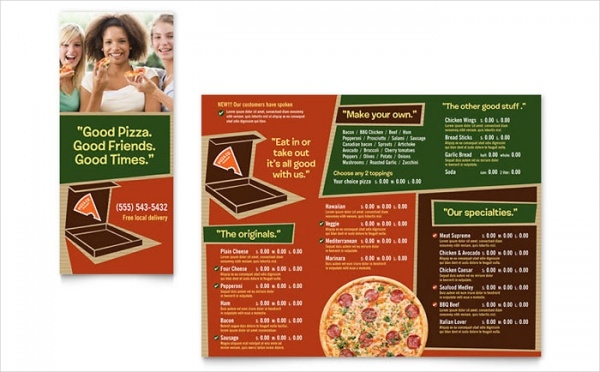 Pizza Brochure Design