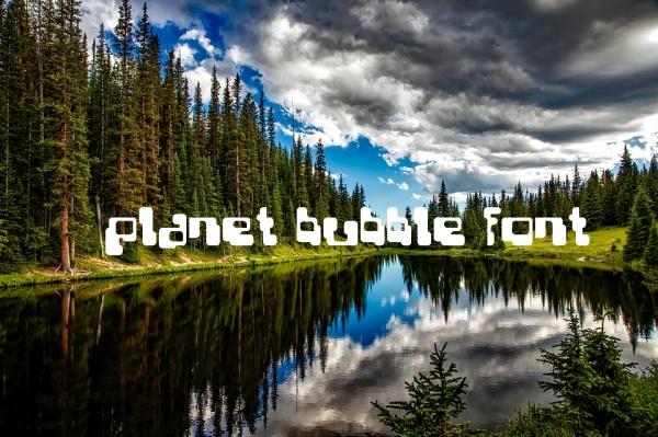 Planet bubble Font