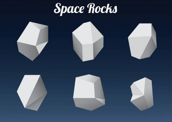 Polygonal Space Rock Shapes