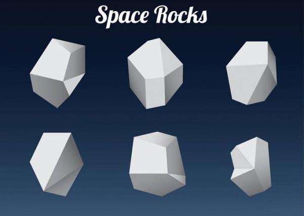 Polygonal Space Rock Shapes