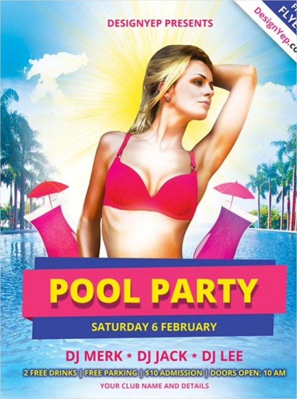 pool party flyer