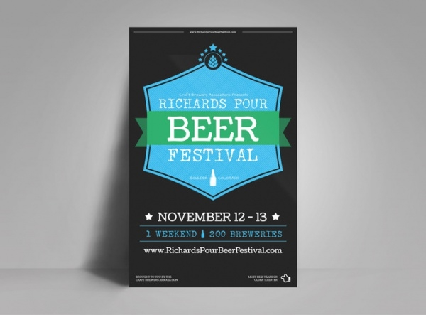Pour Beer Festival Poster