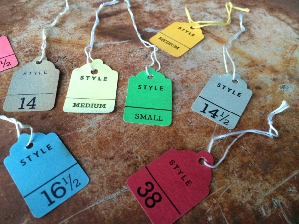 Price Tags for Clothing
