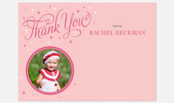 Princess Star Thank You Card
