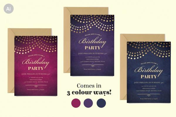 Printable 50th Birthday Invitations
