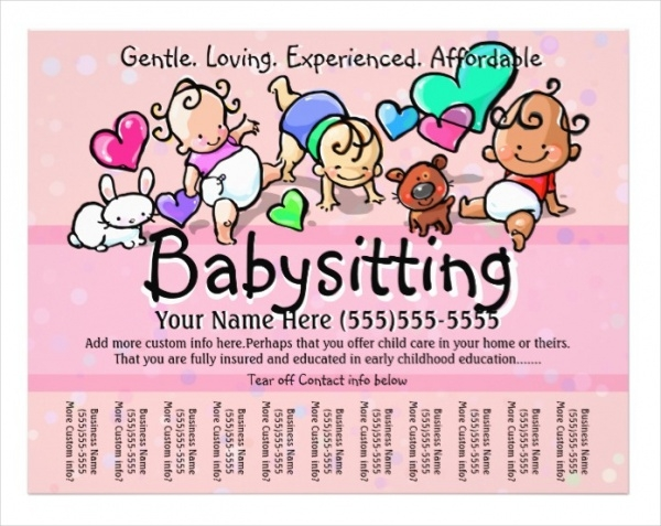 Printable Babysitting Flyer