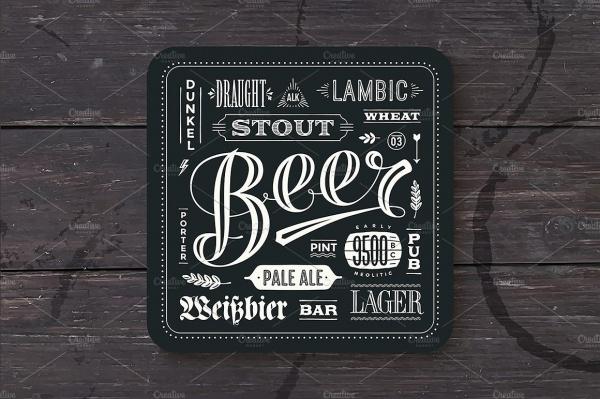 Printable Beer Label Design