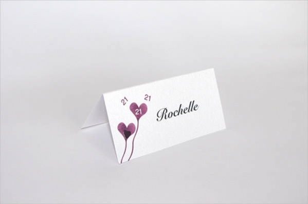 Printable Birthday Place Card Design