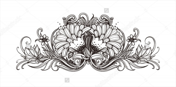 Printable Black and White Flower Background