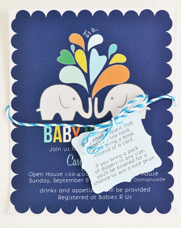 Printable Casey's Baby Shower Invitation