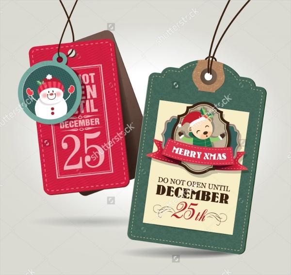 Printable Christmas Tag Design