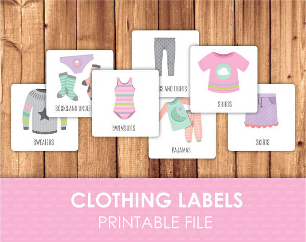 Witty image in printable clothing labels
