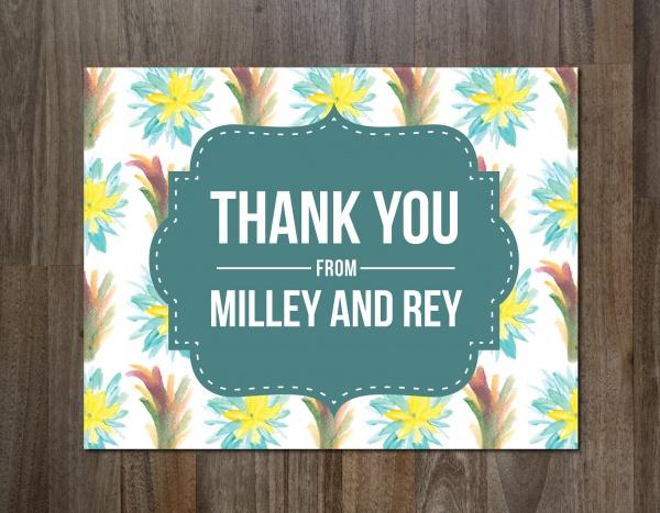 Printable ColorfulThank You Card